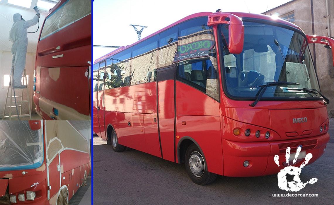 Chapa y Pintura para Autocares y Autobuses - Decorcar - Zaragoza